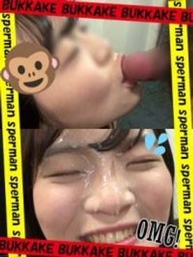 フェラ♡ぶっかけ♡20歳♡看護学生の顔にザーメン大量顔射♡完全顔出し♡個人撮影