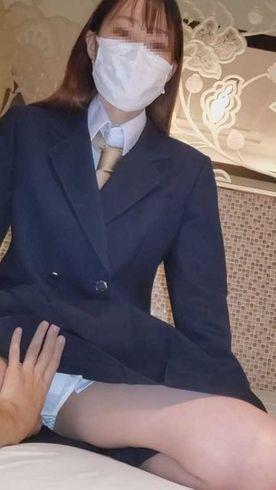 GW限定【顔出し】県立普通科③空手部美少女。卒業前秘蔵映像。こっそり中出し
